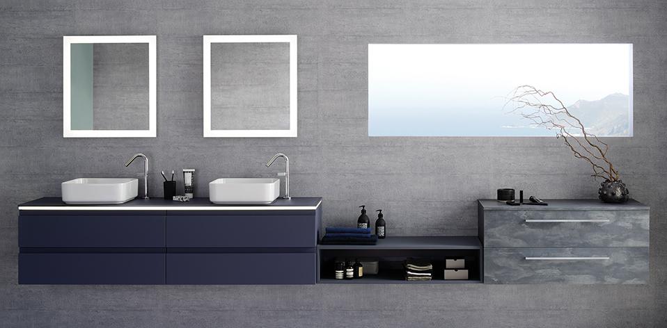 Meuble de salle de bains Halo par Sanijura
