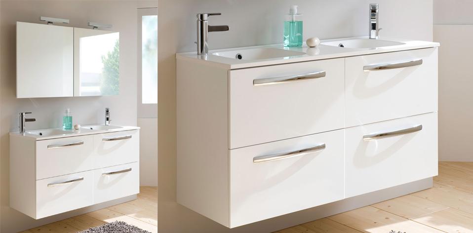Meuble de salle de bains Impact blanc par Sanijura