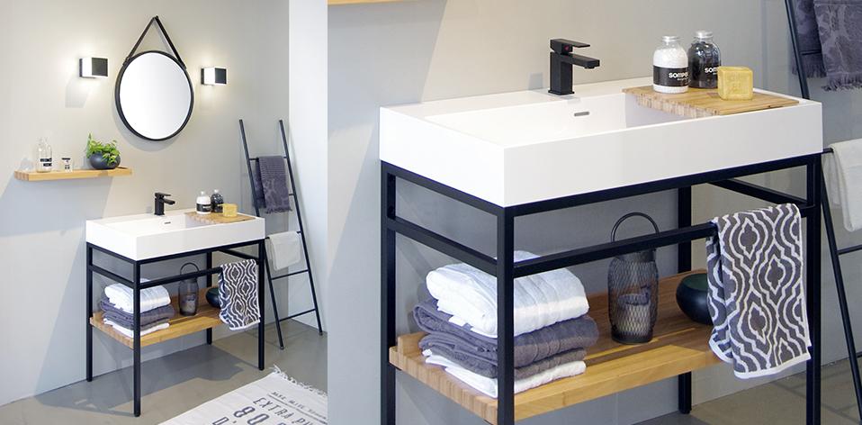 Meuble de salle de bains Steel par Cedam