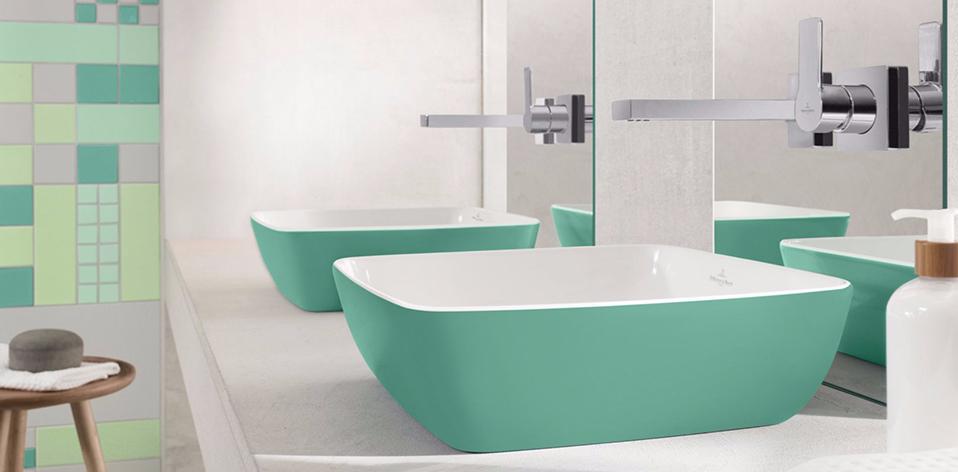 Vasque Artis verte par Villeroy & Boch